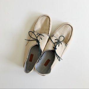 OluKai Heleuma Tan Canvas Comfort Sneakers 9